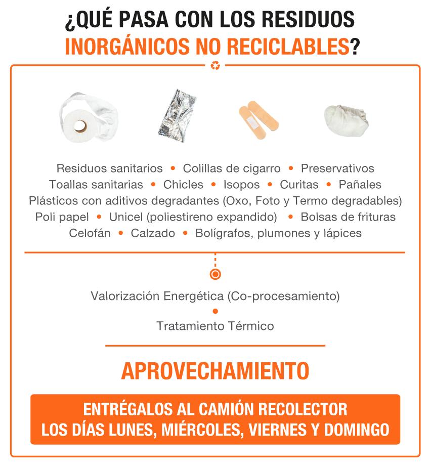 residuos irnorgánicos no reciclables